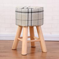 家逸实木凳子创意布艺沙发凳梳妆凳餐凳