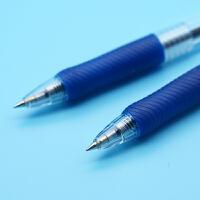 晨光蓝色0.5mm考试圆珠笔学生用 12支 办公按动伸缩原子笔