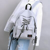 双肩包女韩版2017新款潮书包女校园原宿ulzzang高中学生帆布背包