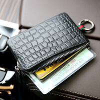 日韩男士真皮拉链超薄小钱包牛皮迷你简约零钱包女式卡包钥匙包