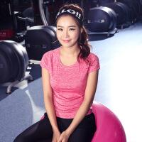 运动短袖健身服T恤圆领速干衣女跑步运动健身瑜伽服女瑜珈服跑步服