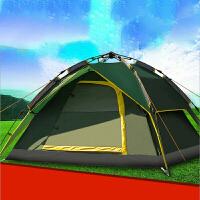 全自动帐篷户外3-4人双层防雨便携露营装备家庭自驾游旅游用品