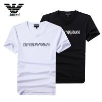 Armani阿玛尼正品 男士夏季短袖半袖修身T恤透气舒适 ANH62CC两色