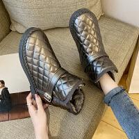 雪地靴女防水防滑秋冬棉鞋保暖百搭学生短筒靴潮