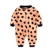 女婴儿连体衣服0岁3个月宝宝新生儿衣服春秋冬季内衣冬装睡衣哈衣