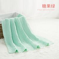 婴儿浴巾纯棉新生儿宝宝纱布浴巾儿童柔软吸水洗澡巾大毛巾盖毯被
