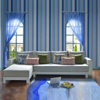 尚满  地中海风格布艺沙发客厅家具可拆洗 上等实木框架 清新范儿三人位+贵妃位转角沙发组合