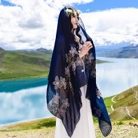 棉麻围巾女夏季防晒超大纱巾民族风披肩两用丝巾女沙滩巾旅游拍照