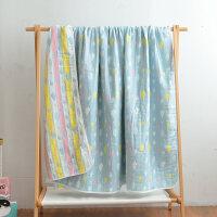 全棉六层纱布毛巾被子纯棉双人空调毯子儿童宝宝婴儿单人小毛毯