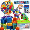 活石 儿童磁力片积木玩具益智玩具百变提拉磁铁积木玩具