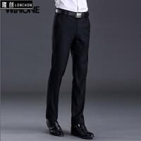 秋季款男士西裤免烫修身型商务中青年正装裤子 黑色 29 腰围2尺2