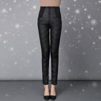 2017冬季新款羽绒裤女外穿 时尚修身显瘦小脚高腰加厚羽绒棉裤