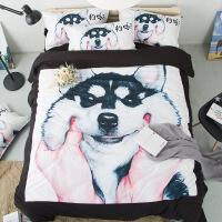 家纺卡通床上用品1.8m双人四件套狗狗印花套件儿童1.2m三件套床单被套