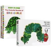 好饥饿的毛毛虫 The very hungry caterpillar 英文原版绘本 卡尔爷爷经典绘本2本 艾瑞卡尔彩色
