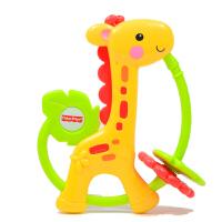 [当当自营]Fisher Price 费雪 缤纷动物之长颈鹿牙胶摇铃组 婴儿玩具 Y6582