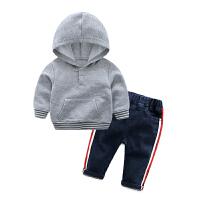 女婴儿童运动休闲百搭套装卫衣服0岁6个月秋冬装婴幼儿宝宝春秋装