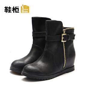 达芙妮集团/鞋柜秋冬女靴欧美短筒平跟切尔西靴-1