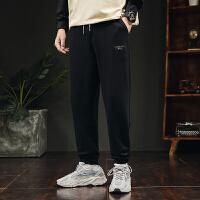 男裤子休闲裤秋冬季潮流直筒九分束脚裤男士运动长裤帅气卫裤