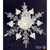 圣诞节饰品圣诞树挂件婚礼婚庆橱窗装饰亚克力雪花玻璃贴雪花