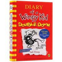 小屁孩日记11 英文原版 Diary of a Wimpy Kid Double Down 哭包日记系列 校园励志小说儿