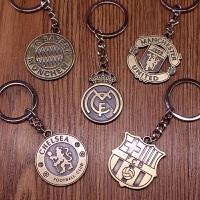 新款巴萨皇马拜仁切尔西曼联米兰足球迷纪念挂件钥匙扣送朋友创意礼物