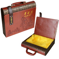 云南普洱茶包�b盒�Y品皮盒茶�~包�b皮盒空盒*批�l定制