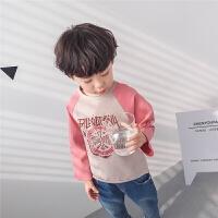 男童长袖T恤2018春秋新款韩版儿童打底衫圆领潮童纯棉小孩薄春季