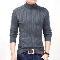 冬季男士毛衣 男式纯色t恤高领中年商务男加厚品牌男装