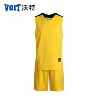 voit沃特17年秋夏季新款篮球服套装V领男运动服运动背心印号定制