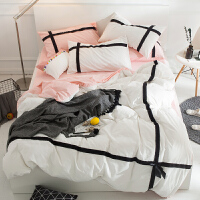 淑女公主风纯棉四件套床单被套1.5m1.8m床上用品全棉轻奢居家床品 1.8m(6英尺)床 床笠套件