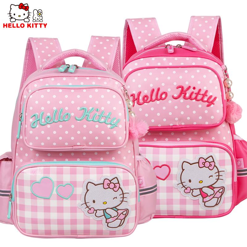 HelloKitty凯蒂猫女童卡通书包小学生1-3年级双肩卡通书包KT0020