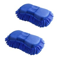 {夏季贱卖}洗车海绵块擦车专用珊瑚海棉刷车汽车美容清洗用品工具雪尼尔手套