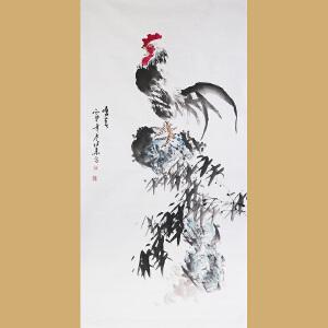 安徽省美术家协会会员张华先生作品――鸣春