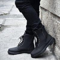 秋季潮男士沙漠靴皮靴工装休闲英伦马丁靴潮鞋高邦男鞋子冬鞋短靴