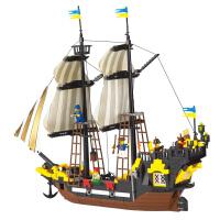 儿童玩具海盗系列冒险号307积木儿童玩具小颗粒拼装模型
