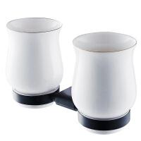 贝乐卫浴BALLEE G2203-2K浴室牙刷杯黑色漱口杯陶瓷杯