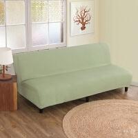 【品牌热卖】折叠沙发床套加厚无扶手沙发床套罩折叠简易沙发套简约色沙发罩包盖 绿色 薄荷绿 大号160~190cm长内用