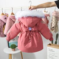 女童棉衣秋冬装加绒女宝宝外套棉袄