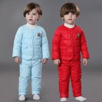小童幼儿男童女童羽绒服宝宝套装冬男女潮0-1岁3婴儿童装6-12个月