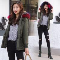 修身羽绒服女短款2017冬装新款韩版休闲女装加厚羽绒衣大毛领外套