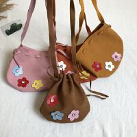 女童立体花朵包包儿童宝宝斜挎包单肩小包零食零钱包