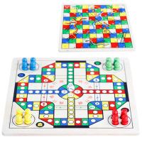 儿童宝宝幼儿智力4岁以上跳棋玩具飞行棋蛇棋象棋木制质男孩女孩