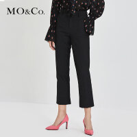 MOCO秋季新品个性开叉直筒西装休闲裤MA183PAT102 摩安珂