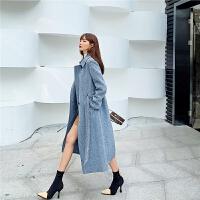 七格格羊毛呢外套女中长款2019新款秋冬季韩版学生修身呢子大衣潮