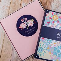 绒面手工DIY相册本影集纪念册浪漫创意个性拍立得情侣礼物 +礼袋礼盒