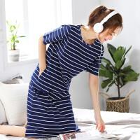 少女睡裙纯棉中长款夏季韩版宽松清新睡衣可外穿全棉学生家居服
