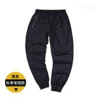 20180228012347569冬季加绒加厚胖子男装裤子男士运动裤宽松加大码加肥佬休闲长裤