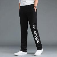 Adidas阿迪达斯 NEO 男子 运动长裤 直筒加绒长裤CE3512