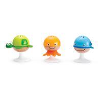 Hape吸盘海洋动物沙铃组0岁以上婴幼儿音乐玩具早教益智E0330