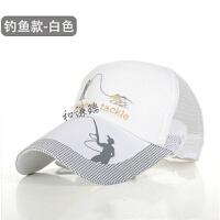户外钓鱼帽男士帽子夏季太阳帽透气棒球帽遮阳休闲帽长檐 均码